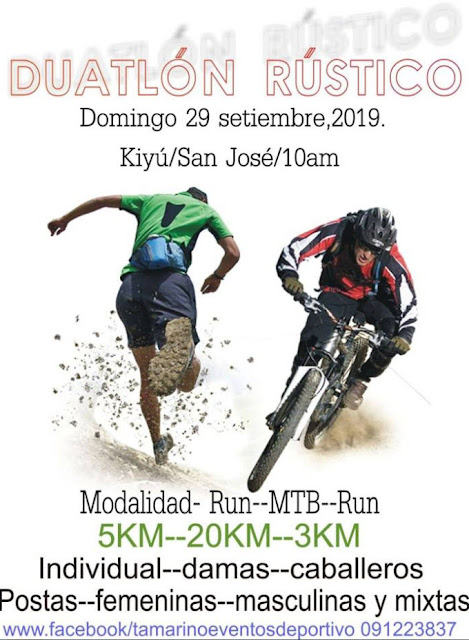 Duatlón rústico en Kiyú (San José, 29/sep/2019)