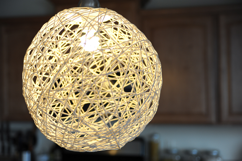 Be Different Act Normal How To Make A String Pendant Light