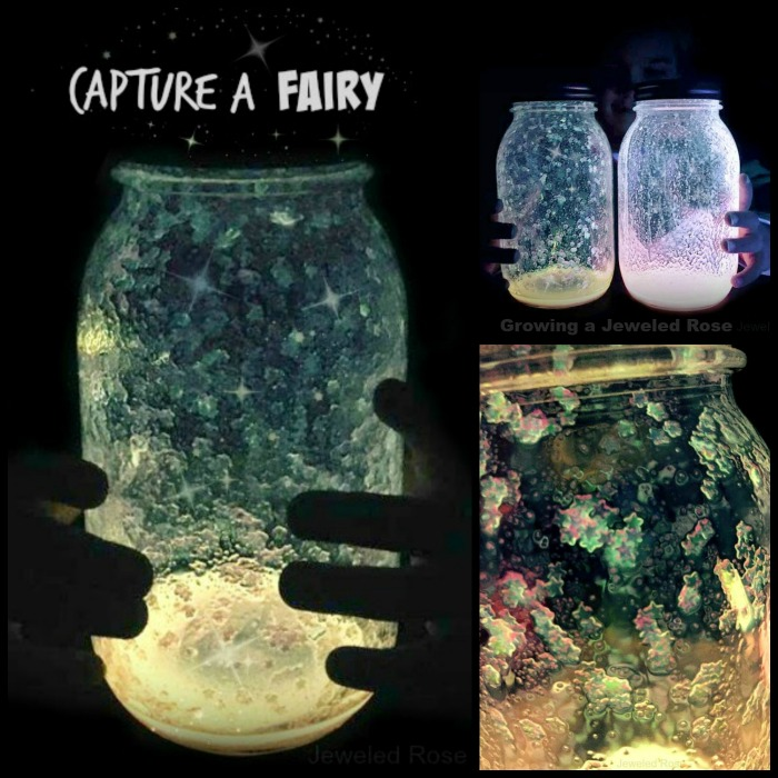 CAPTURE A FAIRY  These fairy jars couldn't be easier to make and are so cool!  Have 5 minutes?  Make these with the kids tonight & send them to bed with the COOLEST night light ever!