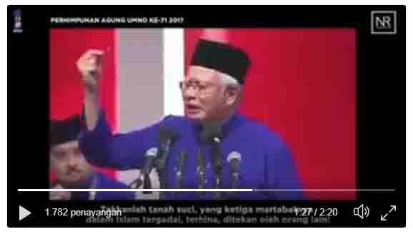 VIDIO: Allahu Akbar, Tegas Pidato PM Malasyia, Siap Tempur Demi Bela Yerusalem (Baitul Maqdis)