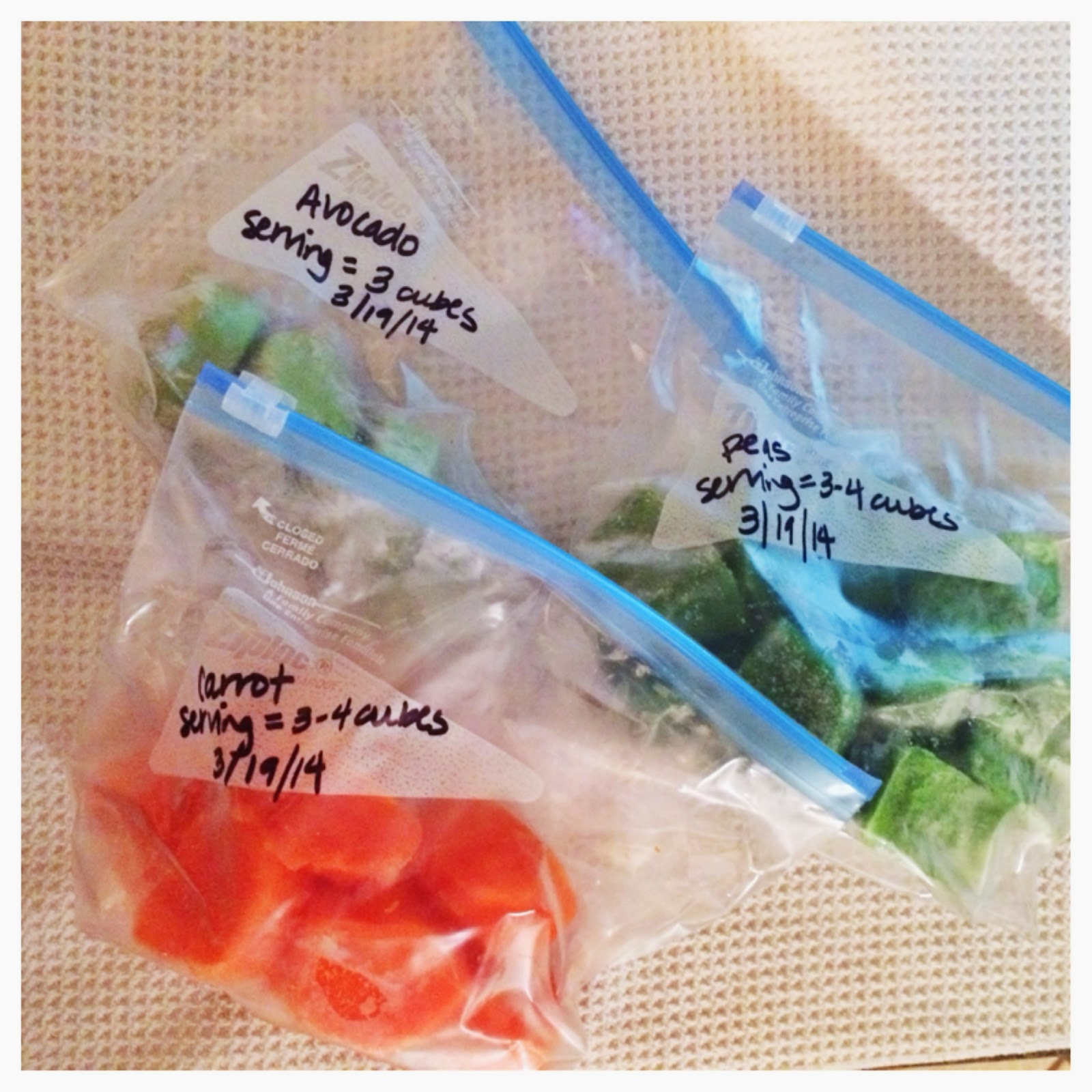 Thawing Frozen Homemade Baby Food