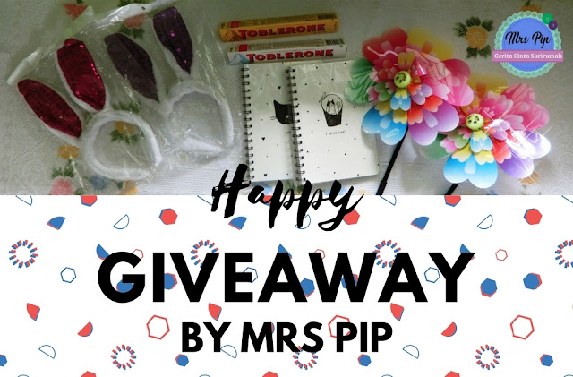 Happy Giveaway by Mrs Pip ( 28/8/17 - 16/9/17 ).
