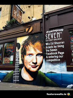 Ed Sheeran hand painted mural by feature walls 2ireland galway bar seven