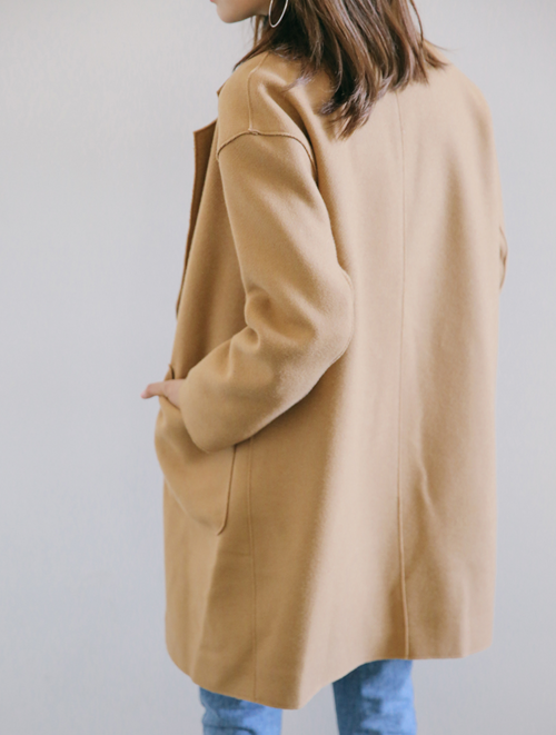 Two Button Notched Lapel Coat