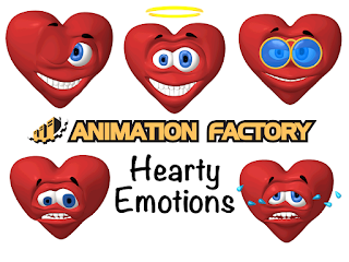 Clipart Image of a Hearty Emotions Sticker Pack