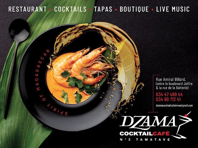 affiche Dzama Cocktail Café Tamatave