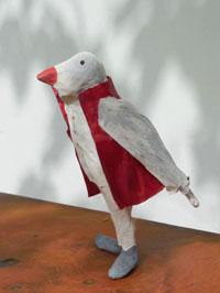 """Papier à êtres : Oiseau gris, exposition """"d'Inspiration Jérôme Bosch"""", Galerie de la Marraine"""