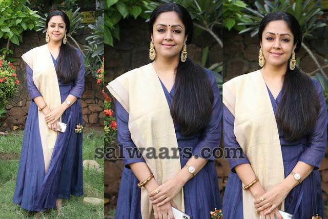 Jyothika Blue Salwar Kameez