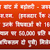 Enhancement of rates of Marriage Grant - marriage grant to needy ESM (upto the rank of Hav/equivalent) and their widows be enhanced from Rs 16,000/- to Rs 50,000/- per daughter (for 2 daughters)