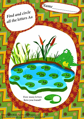 find letter a worksheet, a is for alligator