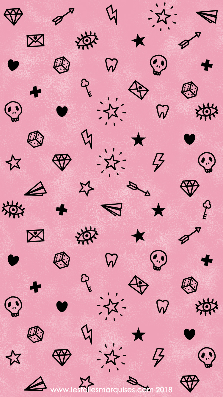 les folles marquises downloadable girly tattoo themed wallpaper fond d 39 cran th me girly. Black Bedroom Furniture Sets. Home Design Ideas