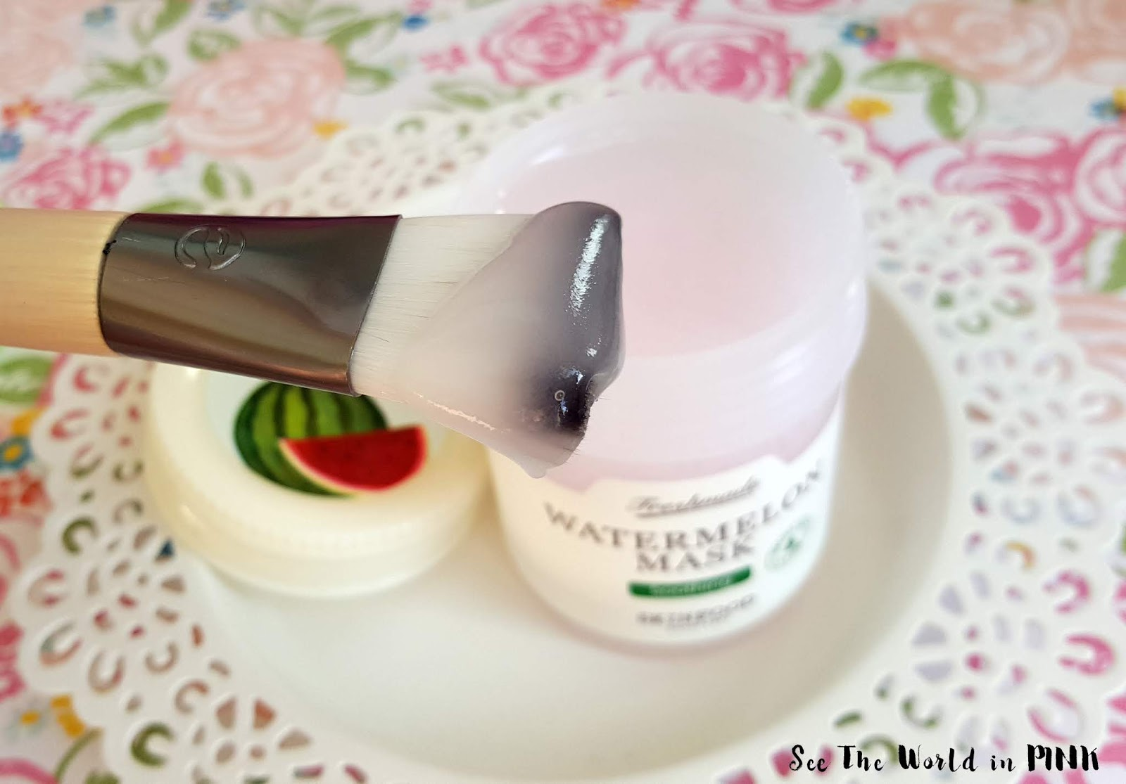 Mask Wednesday - Skinfood Freshmade Watermelon Mask and Ecotools Facial Mask Mates!