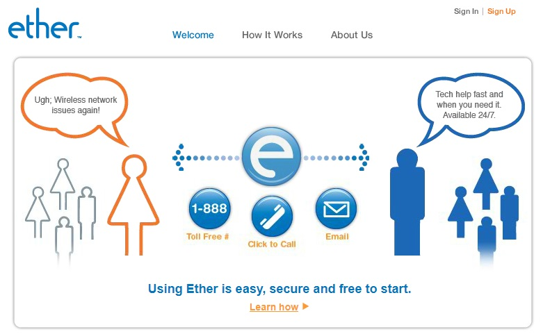 Ether is a Questions Answering site that gives advice via Land Phone, Smartphone and email.