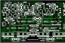 PCB Layout Power Amplifire Lapangan APEX AX12C