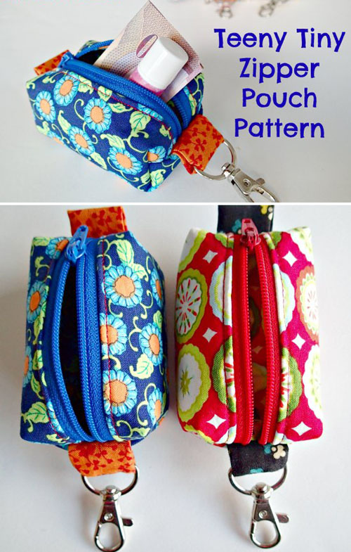 Teeny Tiny Zipper Pouches - Free Pattern