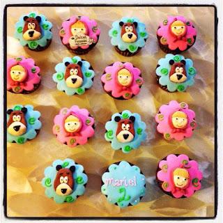 Cupcakes de Masha y el Oso