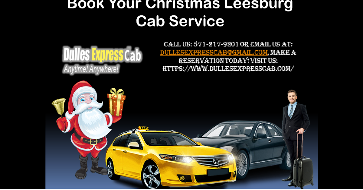 Book Your Christmas Leesburg Cab Service