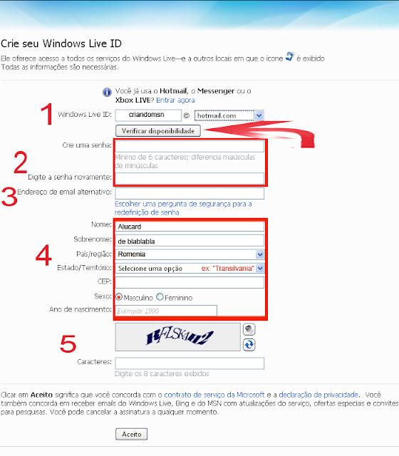 Como abrir uma conta de e-mail no Hotmail