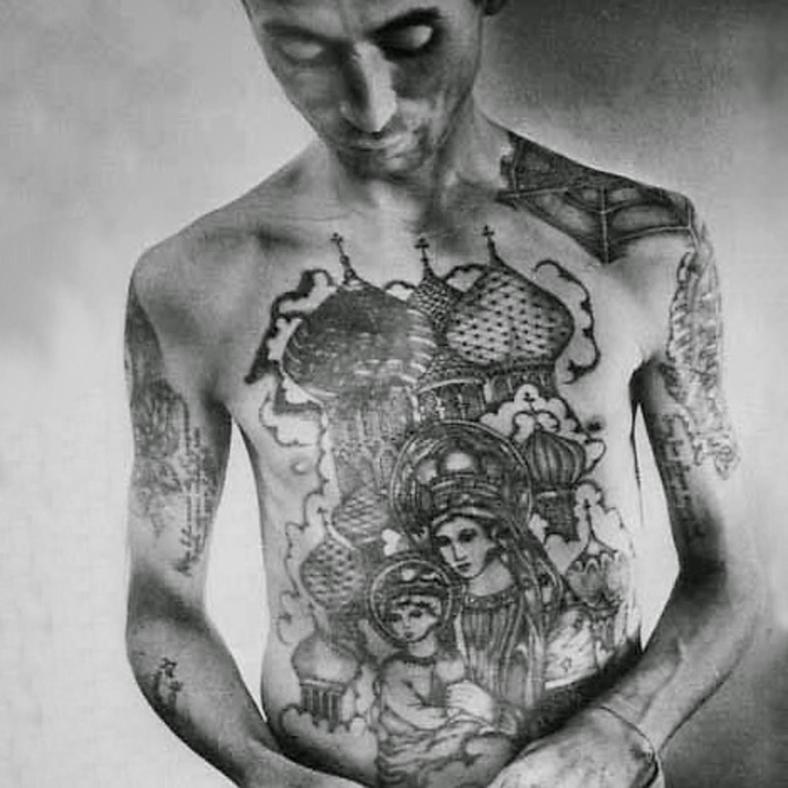 tattoo art russian criminal tattoos madonna and child. Black Bedroom Furniture Sets. Home Design Ideas