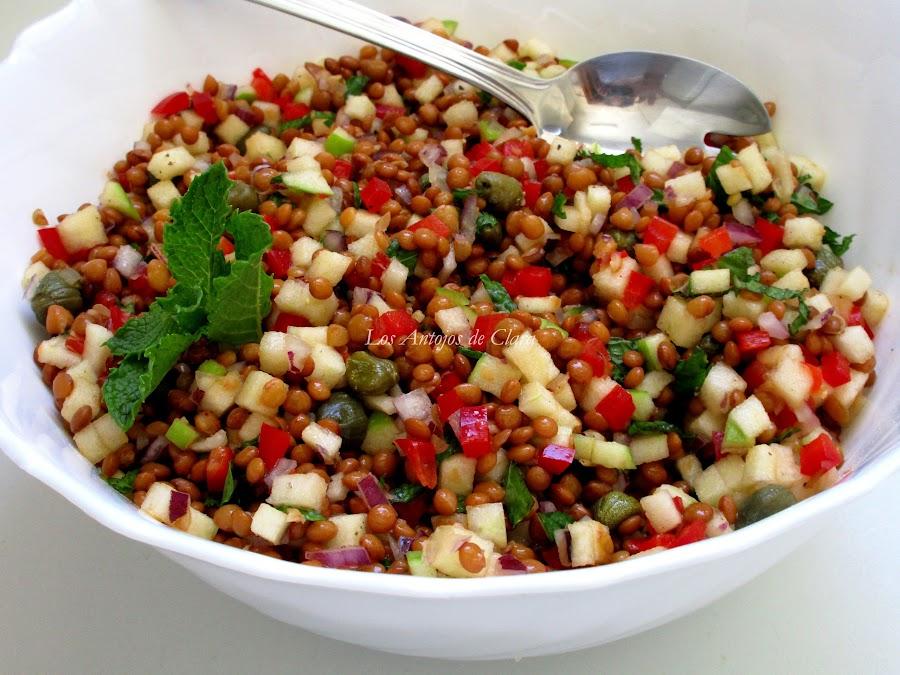 Ensalada de lentejas a la hierbabuena: fresca y deliciosa