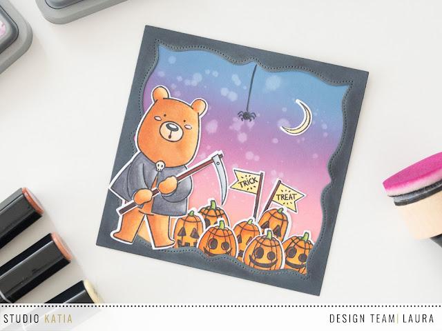 Halloween Card feat Studio Katia Kobi the Grim Reaper