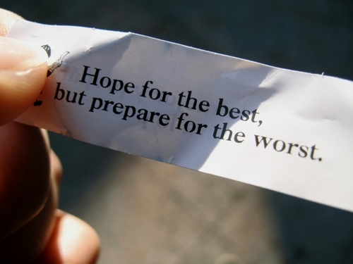 Hope for the best, prepared for the worst : JANE.