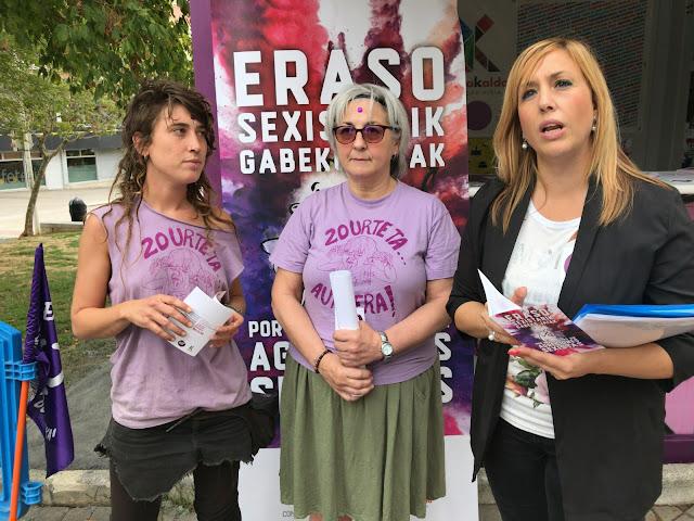 Presentación de las actividades feministas en las fiestas de Barakaldo