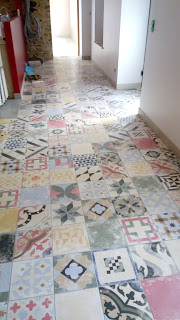 Pose carrelages sol imitation carreaux ciment (suite 2)