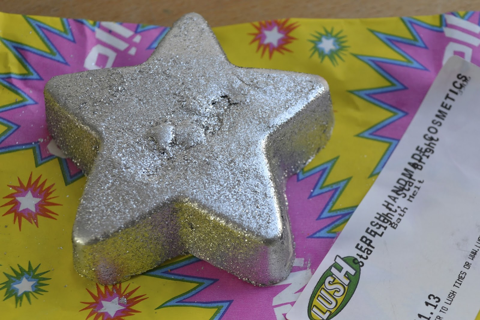 Lush's Star Light, Star Bright Bath Melt