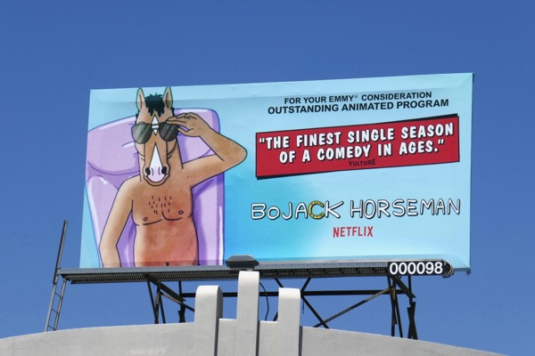 BoJack Horseman season 4 Emmy FYC billboard