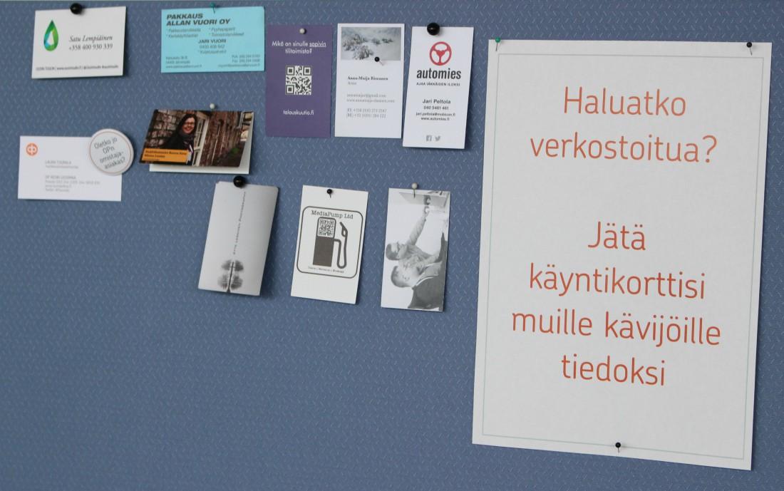 Etälä, yhteisöllinen työtila, Järvenpää, Keski-Uudenmaan Osuuspankki, Rouva Sana