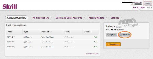 cara withdraw tarik uang dari skrill ke rekening bank 1