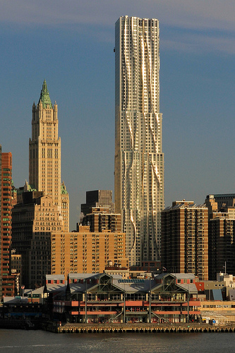 In February The New York By Gehry Building Finally Opened Its Doors To Occupants Years Making This 76 Story 870 Foot Tall Skyser Manhattan