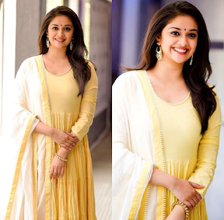 Keerthy Suresh in Yellow Dress for Mahanati Press Meet