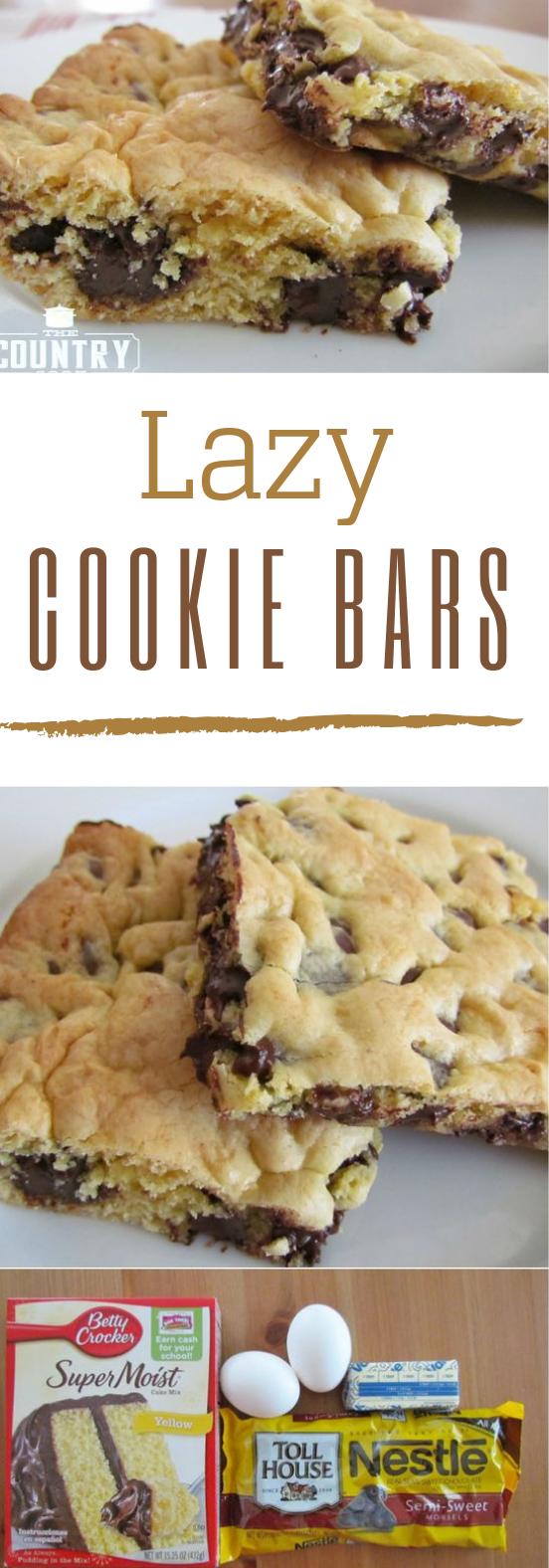 Lazy Chocolate Chip Cookie Bars #dessert #bars