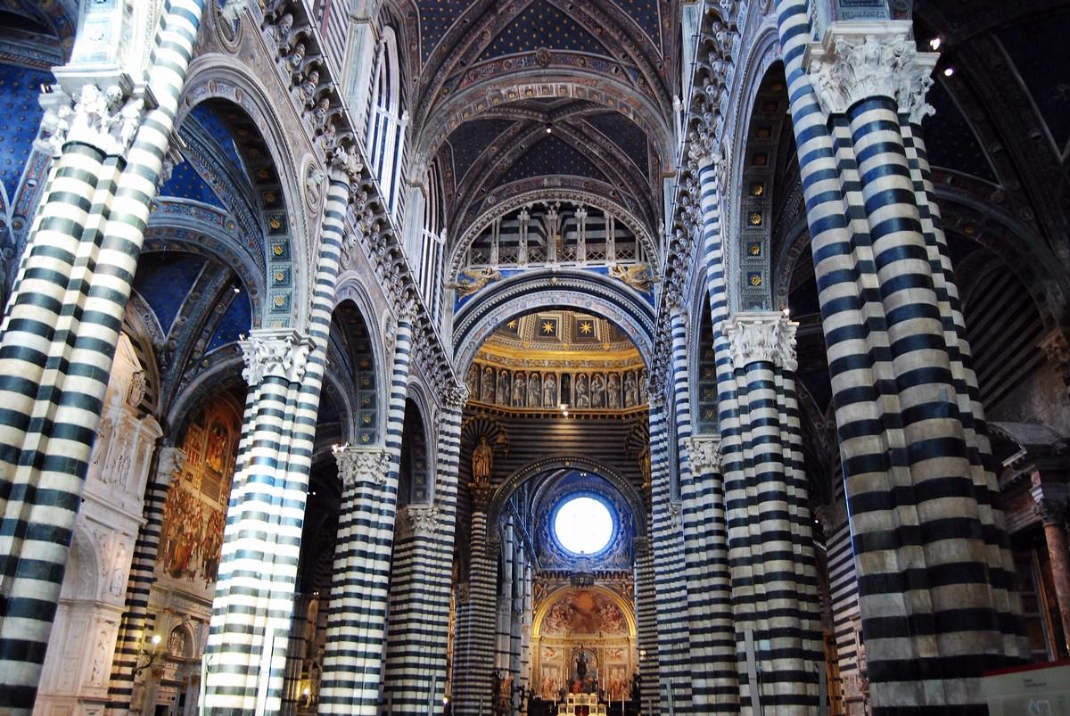 nef cathédrale de Sienne