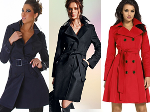 Trench femme noir, marine, rouge...