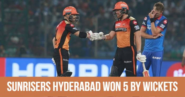 VIVO IPL 2019 Match 16 DC vs SRH Live Score and Full Scorecard