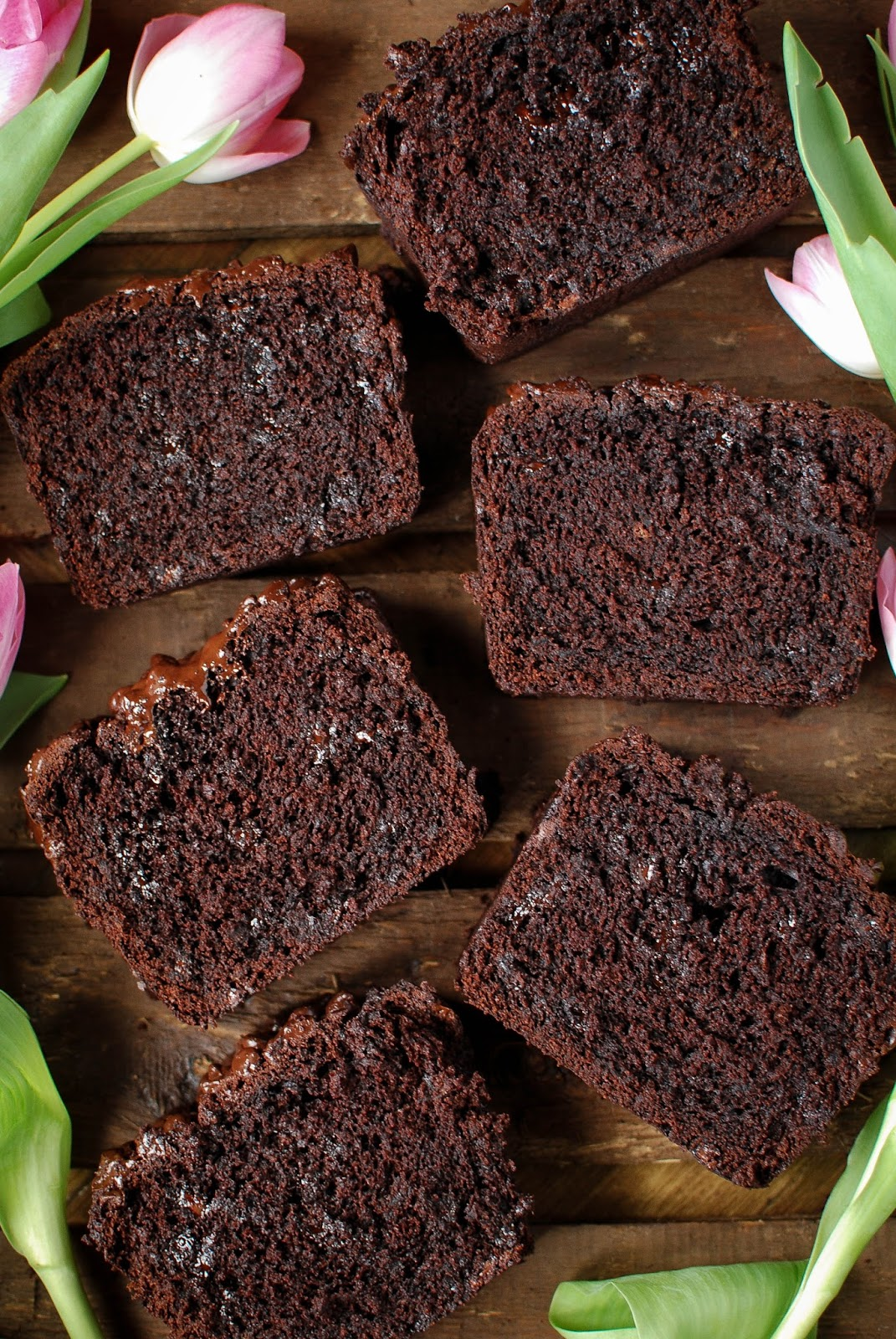 Double Chocolate Banana Bread, the best way to use up over ripe bananas.