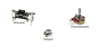 gambar resistor tidak tetap (variable resistor)