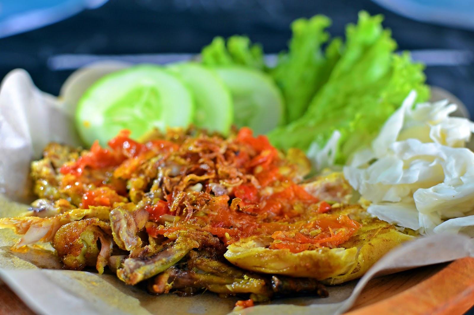Ayam Geprek Lunch and Dinner Menu Malang Indonesia