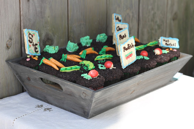 Vegetable Garden Backyard Wedding Cupcakes Hello Cupcake