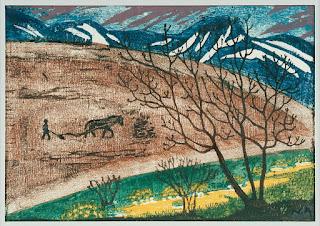 Peintre norvégien Nicolaï Astrup : labour