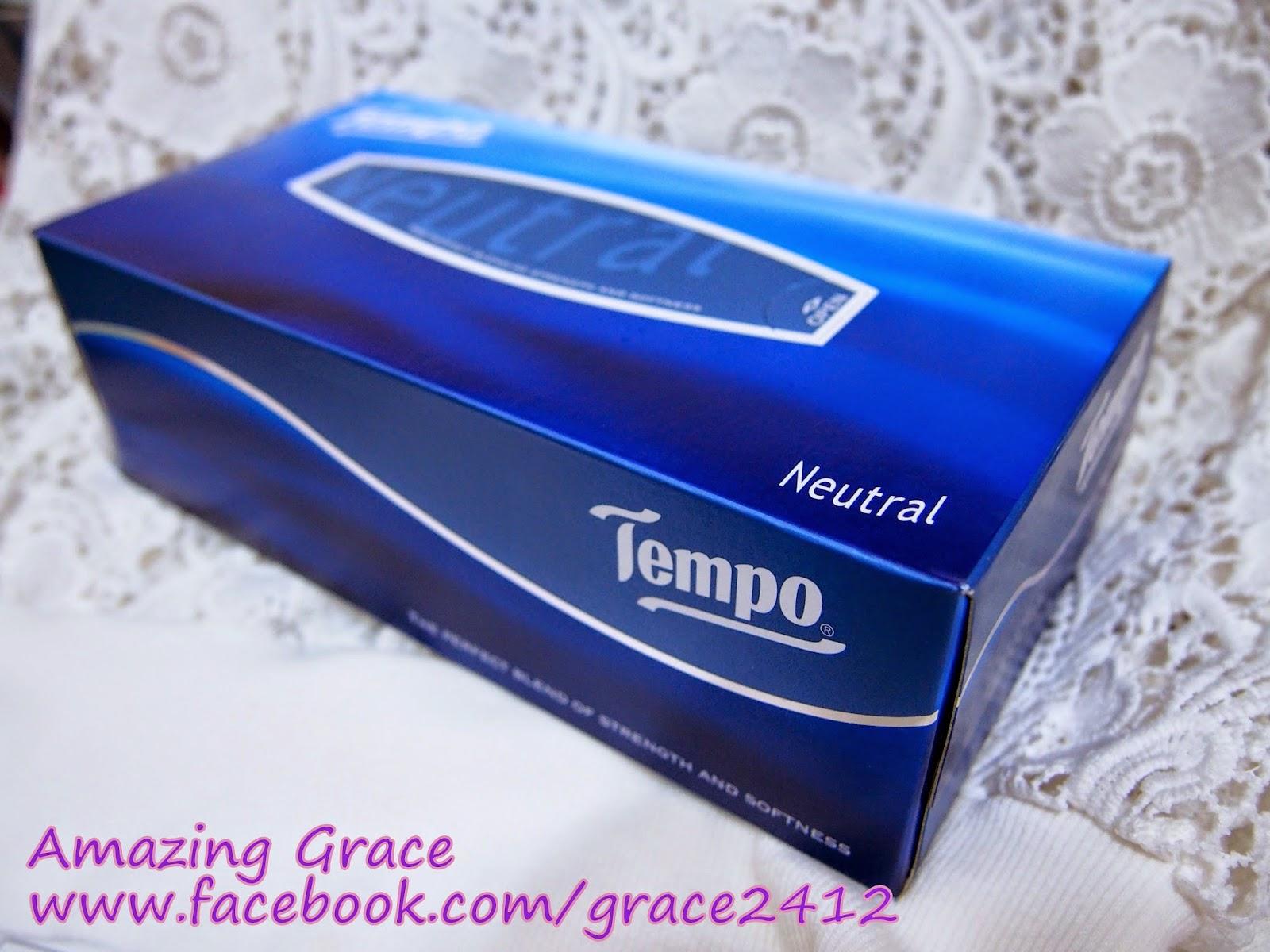 潔淨又衛生 ♥ Tempo盒裝紙巾 : Amazing Grace