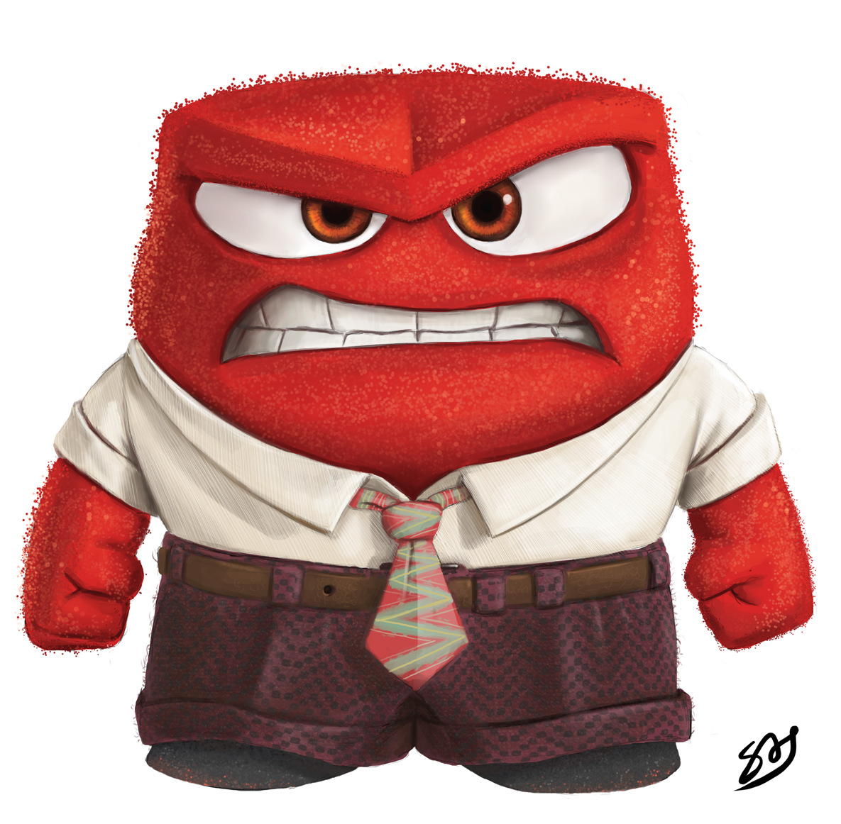 Learning As I Draw Disneys Inside Out Anger Digital