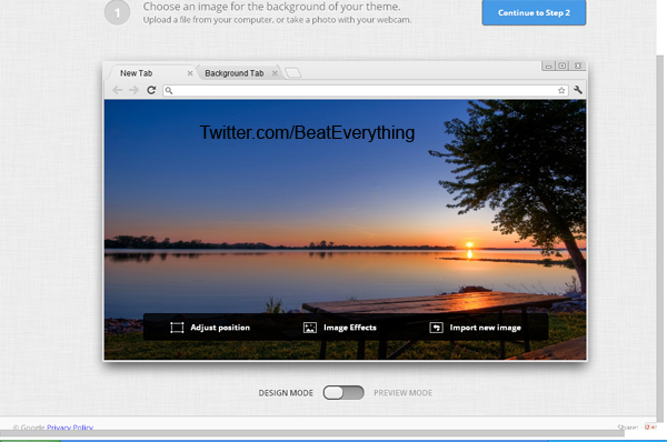 How to create own google chrome theme