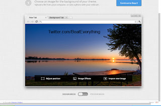 How to create theme for Google Chrome, preview theme and name it