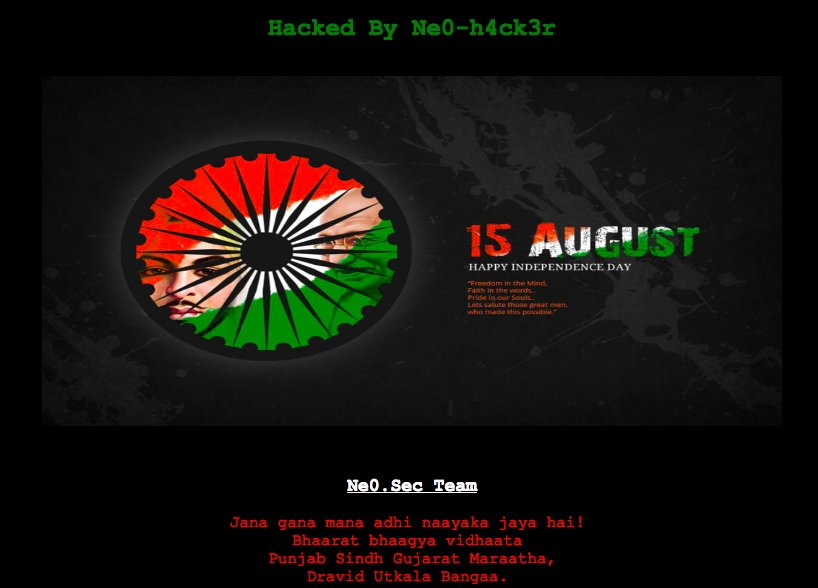 Pakistan's Government Website Hacked, Posted India's National Anthem