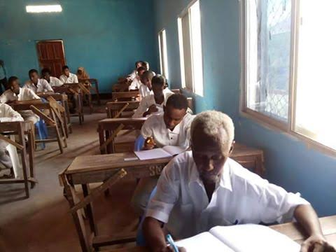 Photos: 60-year-old man sits for secondary school examinations