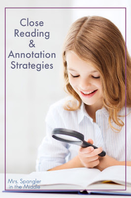 Find some new strategies to teach close reading and annotation to your middle and high school students from your #2ndaryELA friends! #teaching